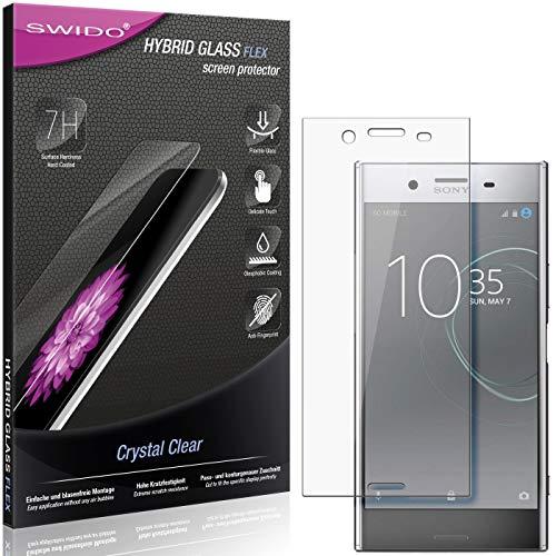 SWIDO Panzerglas Schutzfolie kompatibel mit Sony Xperia XZ Premium Bildschirmschutz-Folie & Glas = biegsames HYBRIDGLAS, splitterfrei, Anti-Fingerprint KLAR - HD-Clear