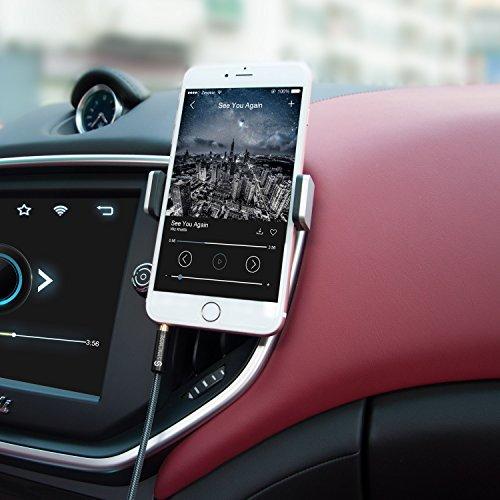 Syncwireオーディオケーブル高耐久ナイロンauxケーブル3.5mmステレオミニプラグヘッドホンケーブルスピーカー/車/iPhone/Android-1m