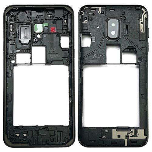 BEIJING  SCREENCOVER+ / Bisel del Marco Medio para Galaxy J2 Core / J260, Reemplazo LCD Placa Placa ATRÁS BIELEL (Color : Negro)
