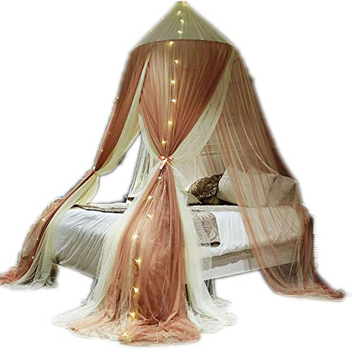 SOYYD Mosquito Net for Bed Canopy Extra Large Tent for Double To King Size Finest Holes Square Netting Curtain 3 Entries Easy To Install Hanging Kit Storage Bag No Chemicals,Style 4