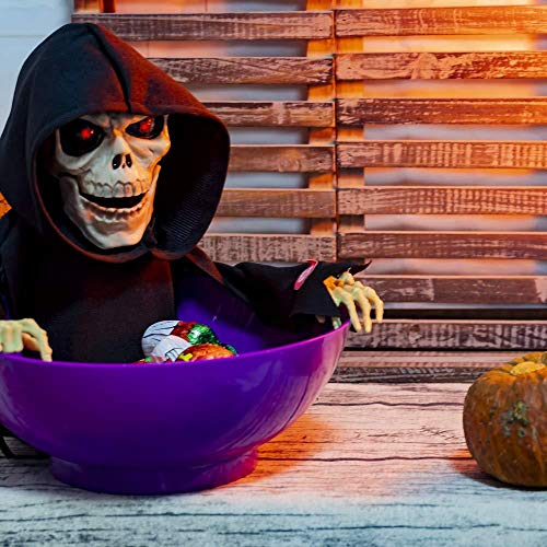 Halloween Candy Bowl Treat oder Trick Candy Dish Dekorationen für Halloween Party Office Home Deco zufällige Farbe