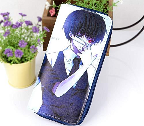 ZHOUBIN Portafoglio Anime Tokyo Ghoul Color Long Pu Manga Tasca Portamonete con Scomparto per Le Monete Porta Carte di Credito borsello portacarte for Uomo Donna