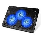 Base Refrigeracion Portatil Ventilador PC laptop cooler HAVIT HV-F2056 Ventilador Portatil de 15,6 a 17 Pulgadas con Puerto USB (Azul)