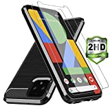 Axiay Google Pixel 4 Case,Pixel 4 Case 2019 with 2 Pack HD Screen Protector ,Slim Flexible Phon…
