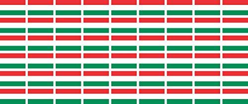 Mini Aufkleber Set - Pack glatt - 20x12mm - Sticker - Fahne - Ungarn - Flagge - Banner - Standarte fürs Auto, Büro, zu Hause & die Schule - 54 Stück