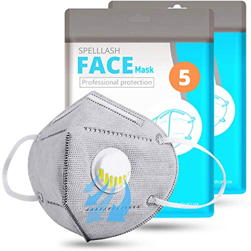 Face Mask Disposable 5 Pcs with Breathing-Valve | Face Mask for Women and men | Sports Face Masks Comfortable on Skin