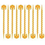 OMUKY 10 Stück Zeltnägel Zelt Heringe Nagel Kunststoff-Zeltheringe Heringe Gelb Zeltnagel für Outdoor Camping Markise Nett (20 cm 10 Stück)