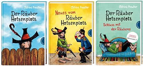 3 kolorierte Bücher vom Räuber Hotzenplotz im Set + 1 exklusives Postkartenset