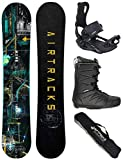 Airtracks Snowboard Set - Wide Board Data 150 - Softbindung Master - Softboots Master QL 42 - SB Bag