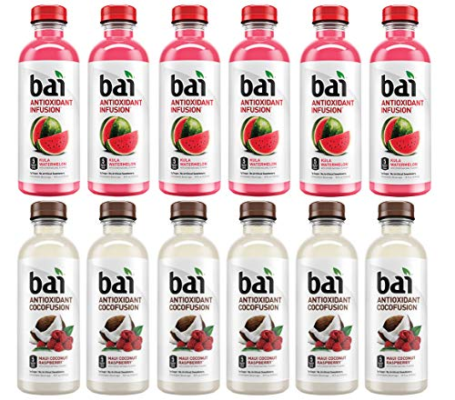 LUV-BOX Variety BAI ANTIOXIDANT Juices pack , pack of 12 , 18 fl oz , INFUSION KULA WATERMELON ,COCOFUSION BEVERAGE MAUI COCONUT RASPBERRY