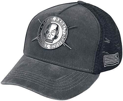 Rock Rebel by EMP Who's Wearing The Cap Unisex Cap schwarz/grau one Size