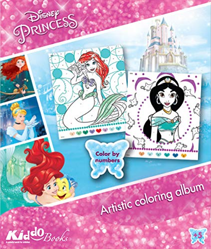QuackDuck Disney Malblock Princess – Principesse – Coloring Album – Color by Number – Dipingere con i numeri (9059)