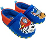 Paw Patrol Boy's Chase and Marshall A-Line Plush Slipper,Blue Red Toddler Size 5-6