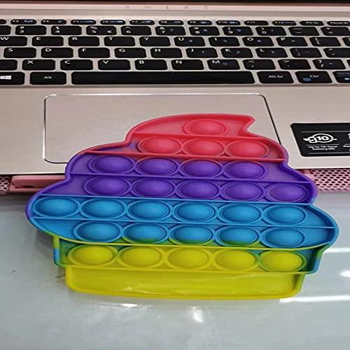 BoBoLily Juguete antivibración, divertidos juguetes sensoriales, antiansiedad, empuje, burbuja, sensorial, juguete para autismo (helado)
