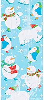 Christmas Polar Pals Multicolored Plastic Party Bags, 20 Ct.