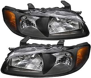 Carpartsinnovate For 00-03 Nissan Sentra 4Dr Black Clear Headlights+Corner Turn Signal Lamps Pair