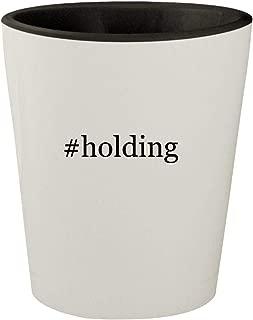 #holding - White Outer & Black Inner Hashtag Ceramic 1.5oz Shot Glass