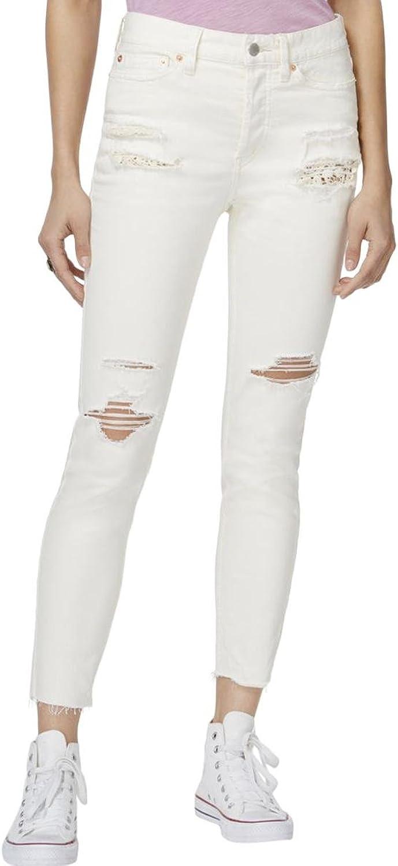 Free People Womens Distressed MidRise Skinny Jeans