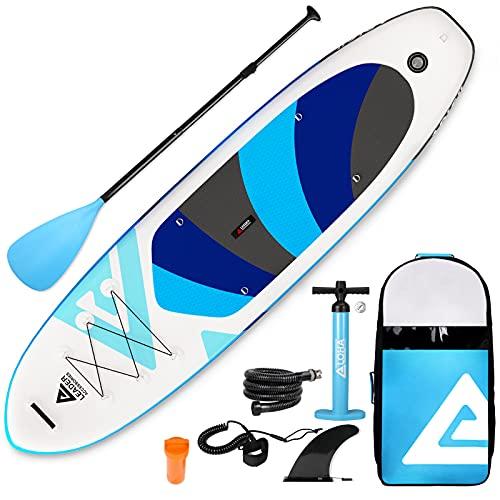 Leader Accessories SUP インフレータブル サップ スタンドアップパドルボード サップボード ヨガ 釣り(Light Blue)