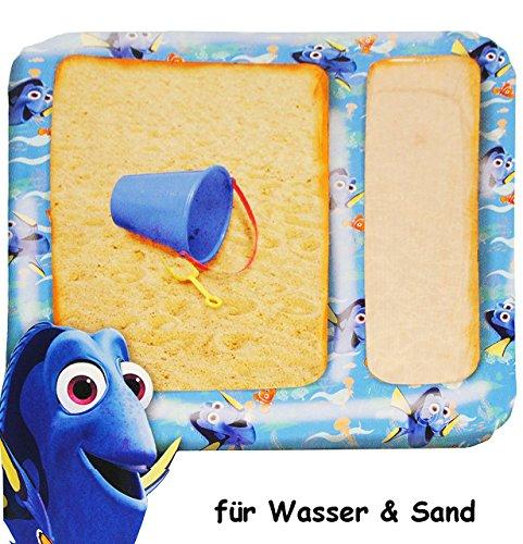 alles-meine.de GmbH Wasser & Sandtisch - aufblasbar -  Findet Nemo - Fisch Dory  - Sandkasten für unterwegs - für Mädchen & Jungen - Innen & Außen - Kinder Luft / Strandspielze..