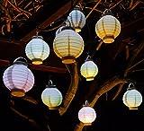 WIM-SHOP 10-STÜCK LED Party Lampion ø 15cm in 5-Pastell-Farben Wunderschön