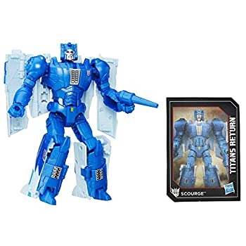 Transformers Generations Deluxe Titans Return Scourge Action Figure