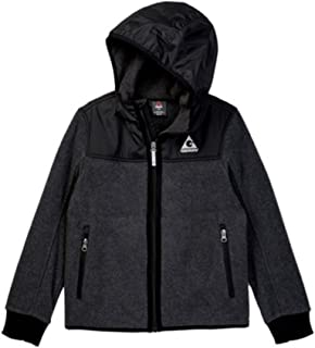 Gerry Boys Hoodie Reflective Trim Knit Shell and Lining Full Zip Ribbed Boys Jacket with Hood