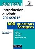 QCM DCG 1 - Introduction au droit 2014/2015 - 600 questions corrigées - 600 questions corrigées