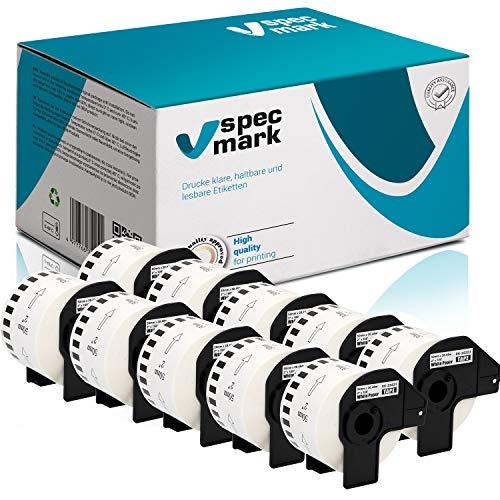 specmark 10 Rollen Endlosetiketten für Brother DK-22223 50mm x 30,48m Etiketten kompatibel zu allen QL-Etikettendruckern QL-570 QL-700 QL-800
