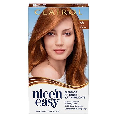 Clairol Nice'n Easy Permanent Hair Dye, 6R Light Auburn Hair Color, 1 Count