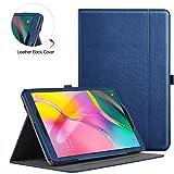 ZtotopCase Hülle für Samsung Galaxy Tab A 10,1 2019, für Modell SM-T510/SM-T515, Premium Leder Geschäftshülle mit Ständer, Kartensteckplatz & Mehrfachwinkel,Navy blau