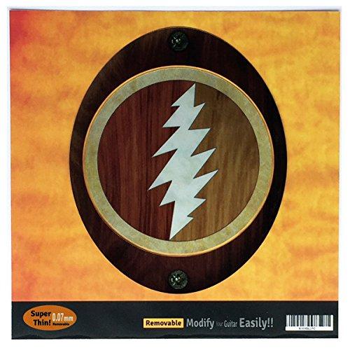 Einlage Aufkleber Aufkleber für Gitarre GRATEFUL DEAD JERRY GARCIA 'S–Lightning Bolt