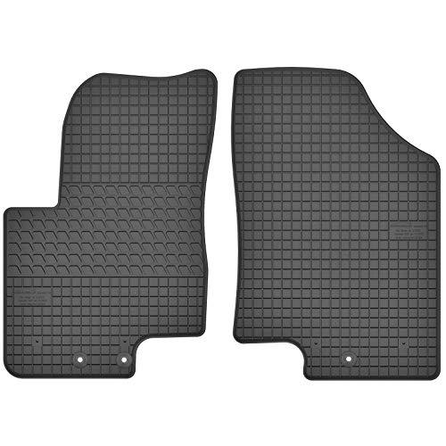 AGCPdirect Gummi Matten Fußmatten Passgenau Vorne Set für Hyundai ix20 2010-2021 und Kia Venga 2010-2021