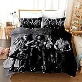JXSMYT Juego de ropa de cama 3D de Los Vengadores, 2, poliéster, microfibra, 1 funda nórdica y 2 fundas de almohada de 50 x 75 cm, ropa de cama infantil (FCZ-9,135 x 200 cm + 1 x 50 x 75 cm)