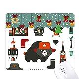 Alfombrilla de ratón con diseño de oso vodka y acordeón, Rusia