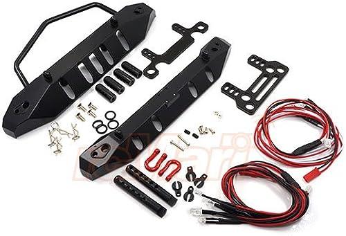 Yeah Racing Aluminum Front Rear Bumper w  LED Set For Axial SCX10  YA-0431 by Yeah Racing