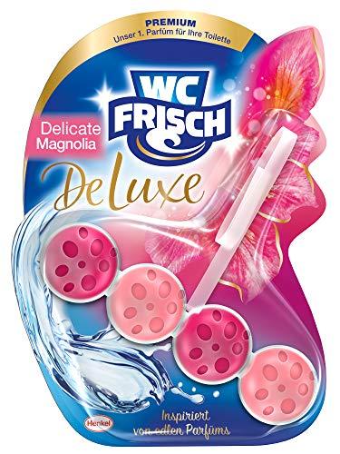 WC FRISCH DeLuxe Delicate Magnolia, WC-Reiniger und WC-Duftspüler, 1 Stück, Parfüm für die Toilette