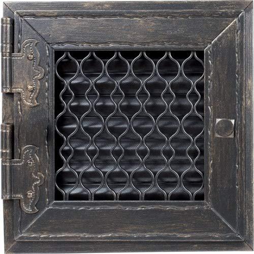 Warmluftgitter Retro Graphit Ofen 19,5x19,5 cm mit Tür Kaminofen Kamin Heizeinsatz