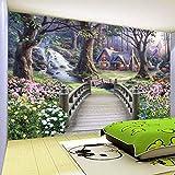 Hhkkckカスタム3D壁画自然風景油絵壁紙防湿環境に優しいリビングルームの背景の壁-120X100Cm
