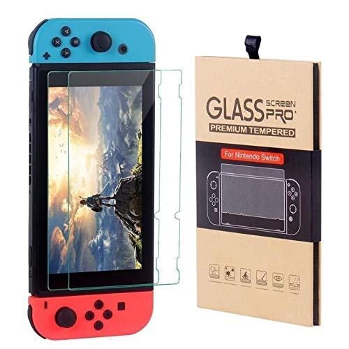 Mabsi Nintendo Switch   Protector Cristal de Vidrio Templado 2 unidades   Protector Nintendo Switch   Mica de pantalla vidrio templado   Protector de pantalla   Funda para Nintendo Switch   Case para Nintendo Switch