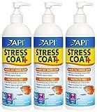 API 3 Pack de acondicionador de agua para peces y grifo, 16 onzas por botella (trata 946 galones por botella)