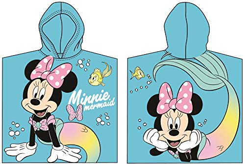 for-collectors-only Minnie Mouse Poncho Kapuzenponcho Handtuch Mermaid Badetuch Strandtuch Disney Kids Hooded Towel