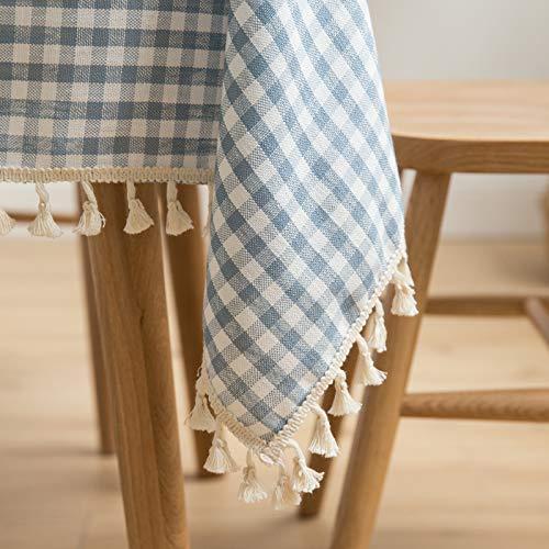Baumwolle Tischdecken im Stil, Tischdeckenbezug Leinen Waschbar Tischdecke für,135x260cm