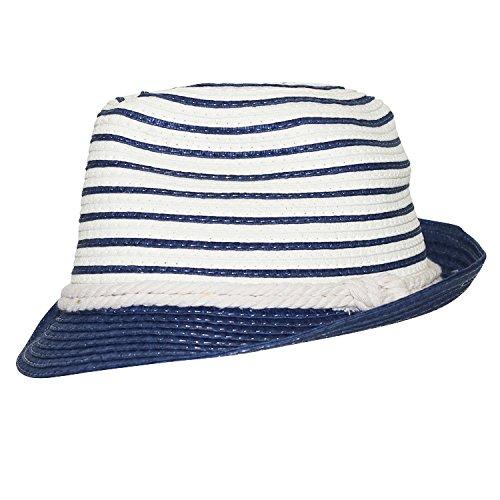Chapeau-tendance - Chapeau Trilby bi Color Bleu Marin - - Homme