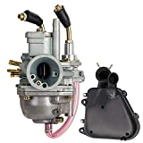 Carburetor + Air Filter Box Assembly Housing Kit For Polaris Predator 90 Manual Choke 90cc Carb Sportsman 90 Yamaha JOG 90 100 90cc 100cc 4DM Scrambler 90 2001-2003,by LIYYOO