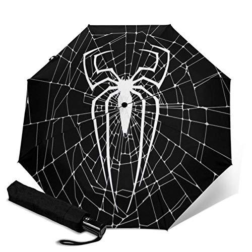 Mdsfe Spinne kreative Männer und Frauen automatische dreifache Regenschirm regnerischen Tag bunten Mode Regenschirm - Rot, a1