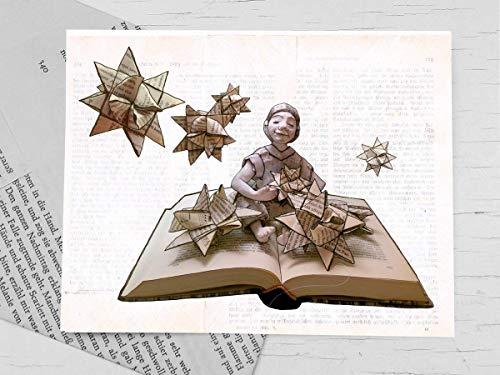 Weihnachtskarte, Klappkarte für Bücher liebende Leseratten - 5