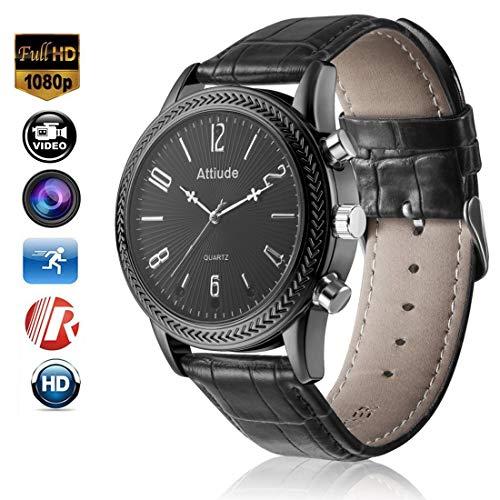 Cámara De Reloj Inteligente De Pulsera De 16GB Cámara De Infrarrojo De Alta Definición HD 1080P De Visión Nocturna (Negro)