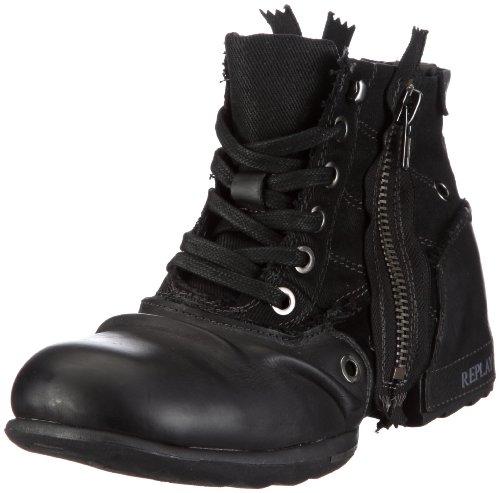 Replay Herren CLUTCH Biker Boots, Schwarz (BLACK 3), 41 EU
