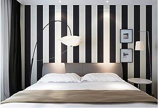 7ae4a6f22eb Papel pintado pared 0.53 x 10 m, Papel pintado a rayas clásico en blanco y